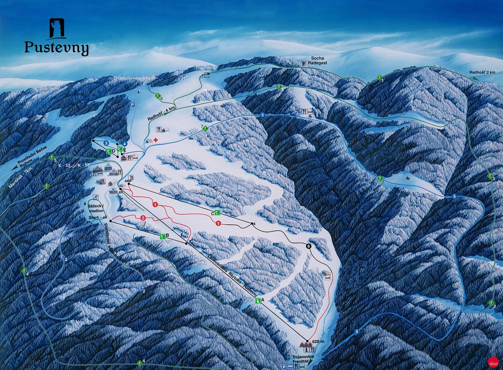 Ski areál Pustevny