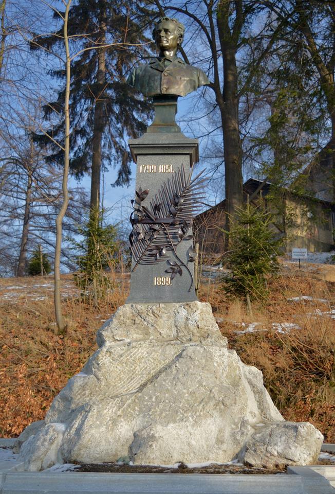 Jubilejní pomník Vincence Priessnitze