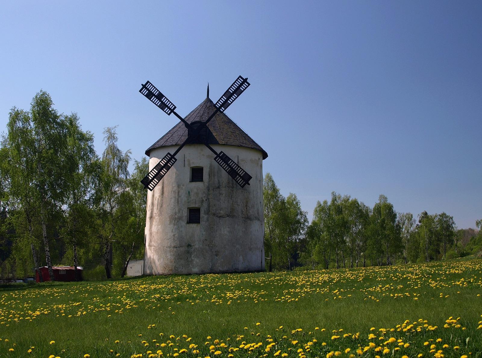Větrný mlýn Město Libavá